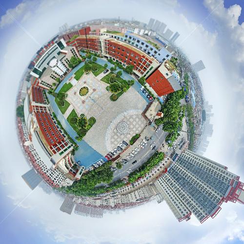 临沂商城实验学校航拍 全景云 全景vr图片 虚拟现实 vr 360°
